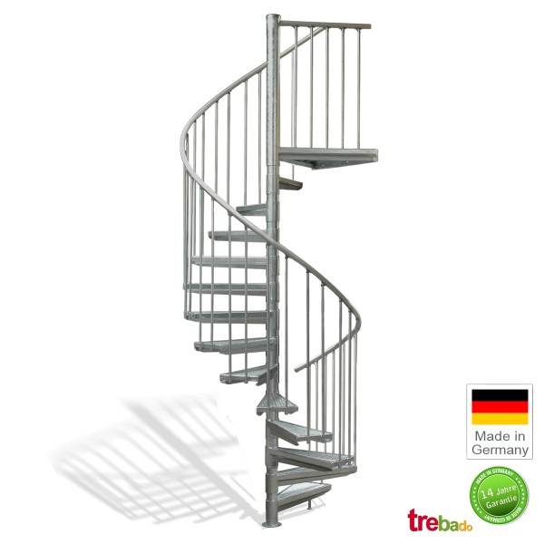 au entreppe 140 gewendelt 13 stufen plus podest h he 329 cm treppen bausatz do it yourself. Black Bedroom Furniture Sets. Home Design Ideas