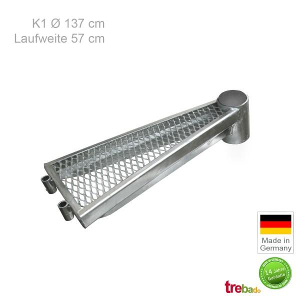 Zusatzstufe K1 140, Stahlstufe 57 cm Laufweite