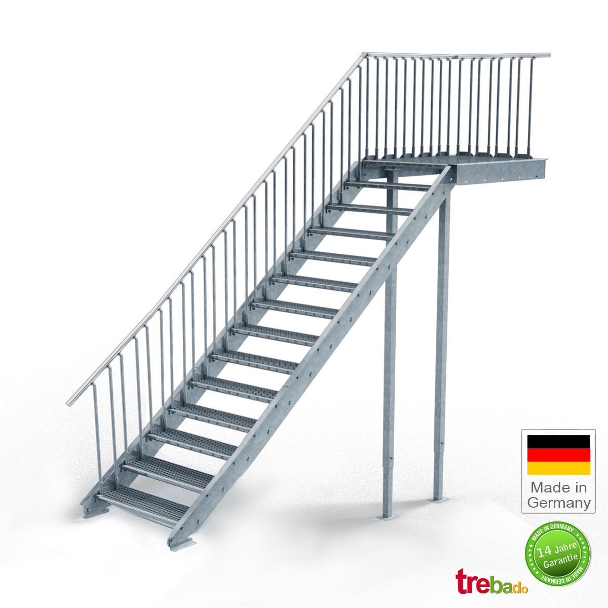 au entreppe gerade 14 steigungen laufweite 100 cm treppen bausatz do it yourself. Black Bedroom Furniture Sets. Home Design Ideas