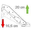 Stufenhöhe variabel