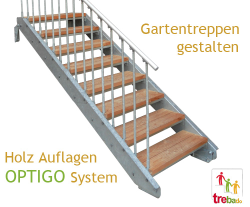 gartentreppe holz & stahl | treppen, bausatz, do-it-yourself,