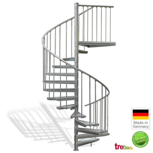 Außentreppe 180 Gewendelt 13 Stufen Plus Podest Höhe 329 Cm