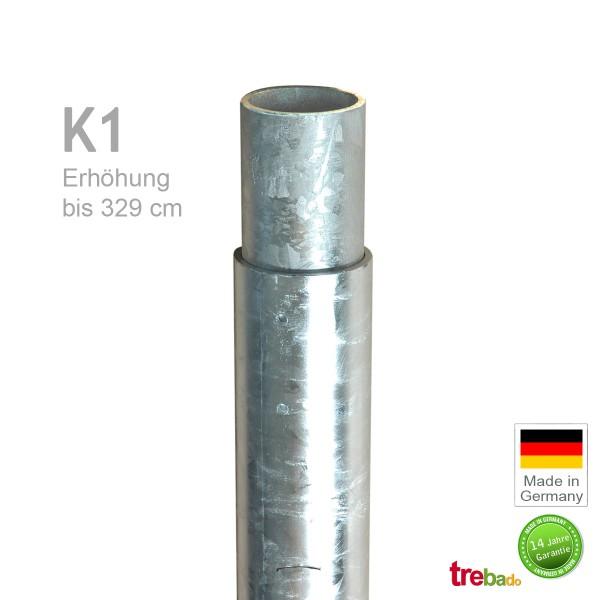 Standrohr K1 329cm Verlängerung, Stahlsäule