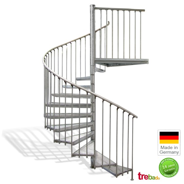 au entreppe 220 gewendelt 11 stufen plus podest h he 280 cm treppen bausatz do it yourself. Black Bedroom Furniture Sets. Home Design Ideas