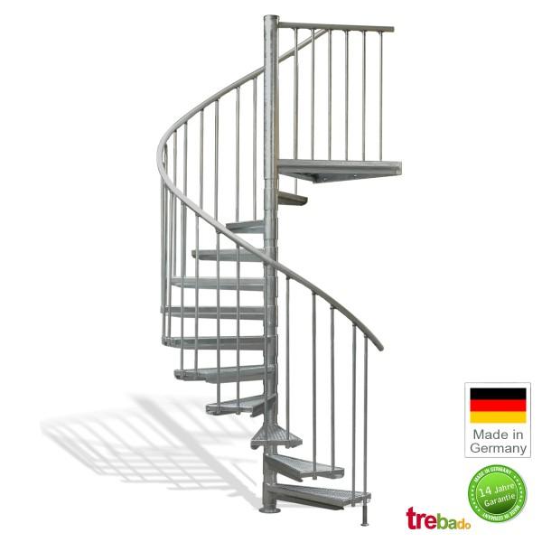 Außentreppe 160 Gewendelt 11 Stufen Plus Podest Höhe 282 Cm