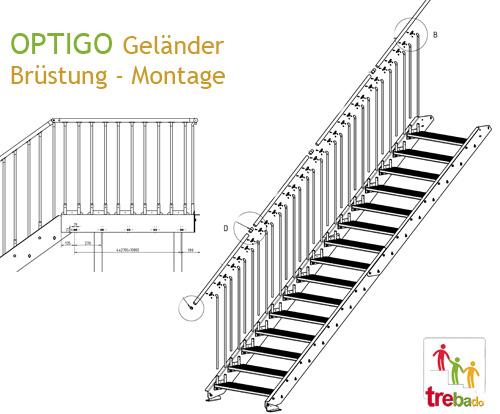Schnitt Stahltreppe