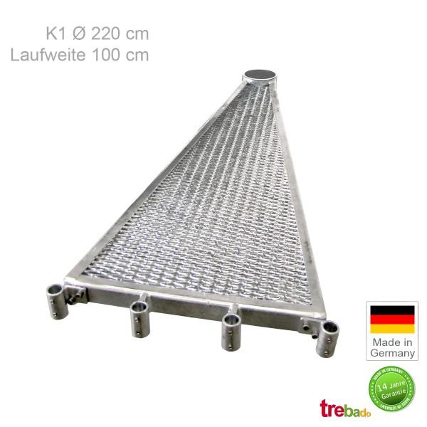 Zusatzstufe K1 220, Stahlstufe 100 cm Laufweite