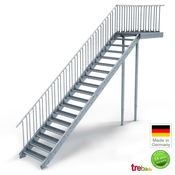 au entreppe gerade 18 steigungen laufweite 100 cm treppen bausatz do it yourself. Black Bedroom Furniture Sets. Home Design Ideas