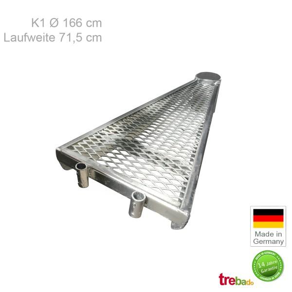 Zusatzstufe K1 166, Stahlstufe 71,5 cm Laufweite