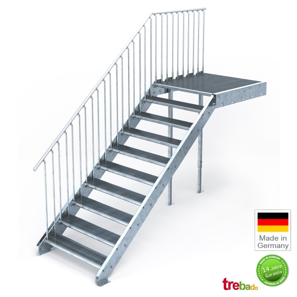 au entreppe gerade 10 steigungen laufweite 100 cm treppen bausatz do it yourself. Black Bedroom Furniture Sets. Home Design Ideas