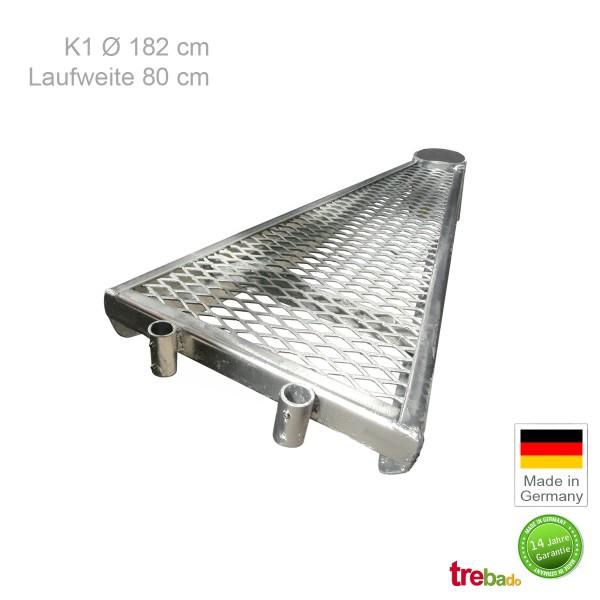 Zusatzstufe K1 182, Stahlstufe 80 cm Laufweite