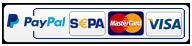 Zahlung per Lastschrift, Mastercard und VISA über PayPal.